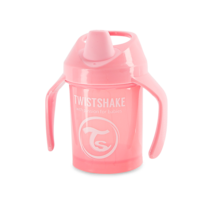 Twistshake Učiaci netečúci hrnček 230 ml, ružová