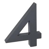 Alumínium házszám, 4, 3D, strukturált felület