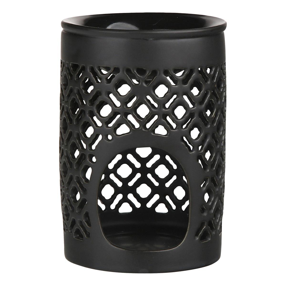 Altom Porcelánová aromalampa Beth 8,5 x 11,5 cm, černá