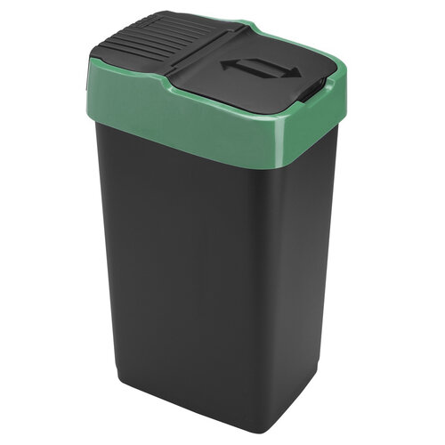 Heidrun Odpadkový kôš 35 l, so zeleným pruhom