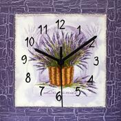 Nástěnné hodiny Levandulové okno