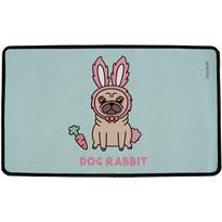 Butter Kings Wewnętrzna wycieraczka wielofunkcyjna Dog Rabbit, 75 x 45 cm