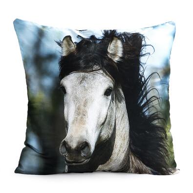Polštářek Horses White Horse, 40 x 40 cm