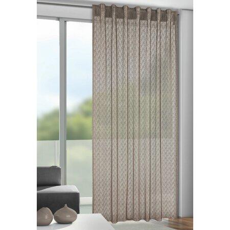 Záclona s poutky Calli šedá, 140 x 245 cm