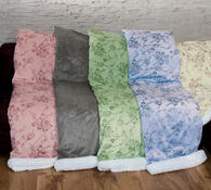 Beránková deka hnědá, 140 x 200 cm