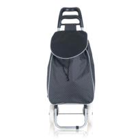 Nákupná taška na kolieskach CARRIE, čierna