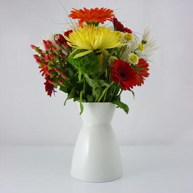 Váza Element 13 cm, bílá