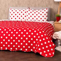 Cuvertură de pat 4Home Buline roșii, 220 x 240 cm, 2 buc. 50 x 70 cm