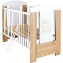 New Baby Detská postieľka so sťahovacou bočnicou Medvedík s hviezdičkou, 123 x 65 x 98 cm