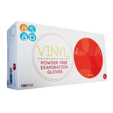 Jednorázové vinylové rukavice bezpudrové 100 ks, L