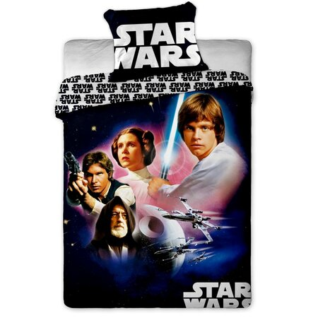 Lenjerie din bumbac pentru copii Star Wars 01, 140 x 200 cm, 70 x 90 cm