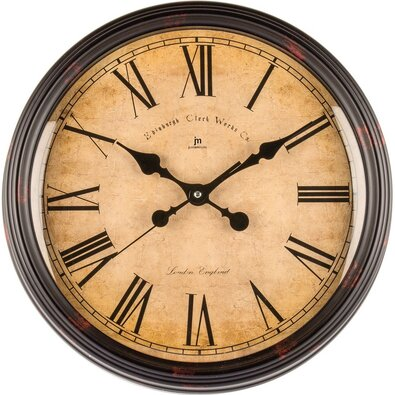 Lowell 00825E Stylowy zegar ścienny śr. 40 cm
