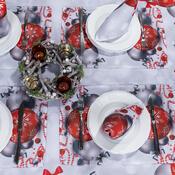 Faţă de masă crăciun Ornamente de crăciun, 85 x 85 cm