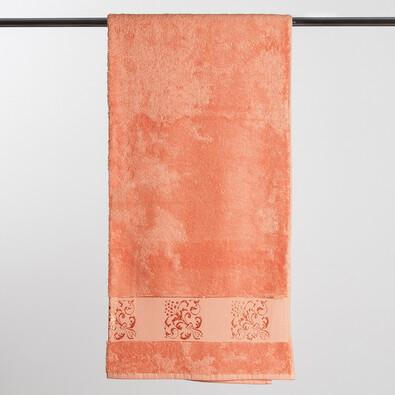 Bambusová osuška, oranžová, 70 x 140 cm