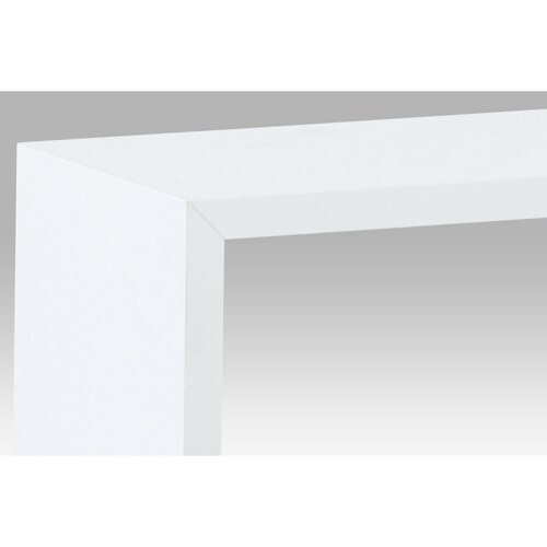 Etajeră de perete alb, set 3 buc.