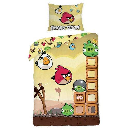 Halantex Detské bavlnené obliečky Angry Birds yellow Game, 140 x 200 cm, 70 x 90 cm
