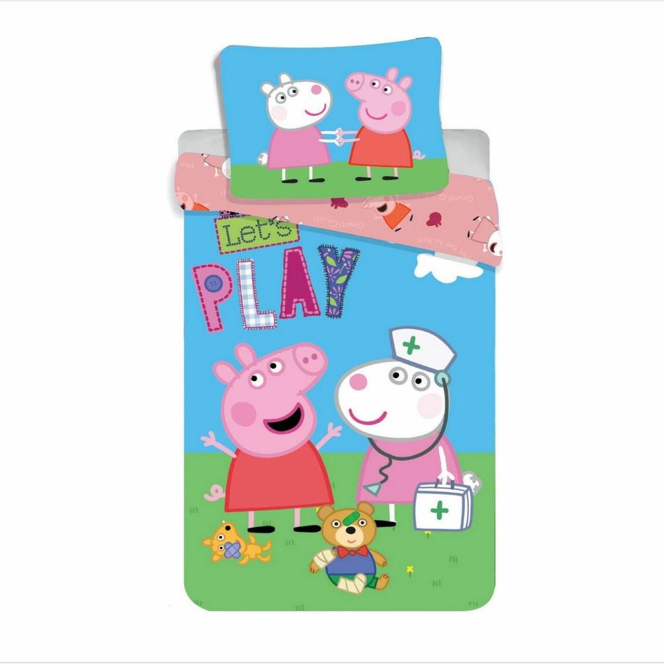 Jerry Fabrics Dětské bavlněné povlečení Peppa Pig 028, 140 x 200 cm, 70 x 90 cm