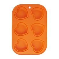 Orion Forma silikonowa na muffinki Serce, pomarańczowego