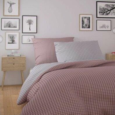 Kvalitex Nordic Kare pamut ágynemű, rózsaszín, 140 x 200 cm, 70 x 90 cm