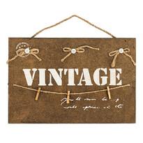 Altom Dekorativní závěsná tabule Vintage, hnědá