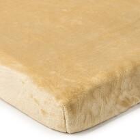 Cearșaf de pat 4Home microflanel, bej, 90 x 200 cm