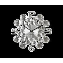 Nástenné hodiny Lavvu Crystal Jewel LCT1030  strieborná, pr. 34 cm