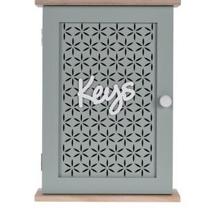 Skříňka na klíče Trento modrá, 28 x 20 cm