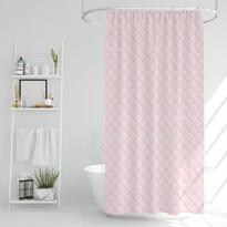 Zasłona prysznicowa Poly różowy, 180 x 180 cm