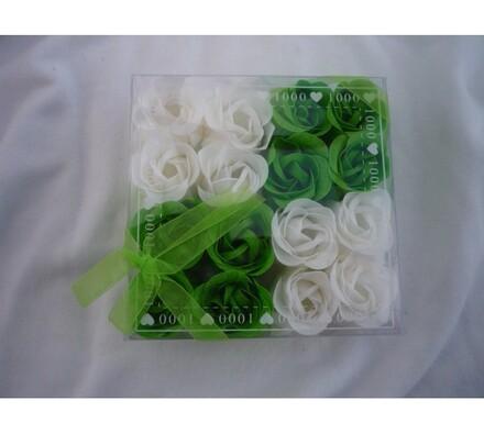 Dekorativní mýdlové květy, zelená