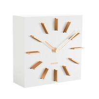 Karlsson KA5781WH Designové stolní i nástěnné hodiny, 15 cm