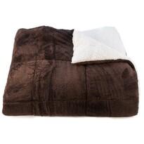 Koc baranek Erika czekoladowy, 150 x 200 cm