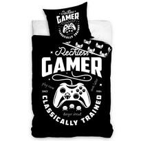Bavlněné povlečení Gamer Black, 140 x 200 cm, 70 x 90 cm