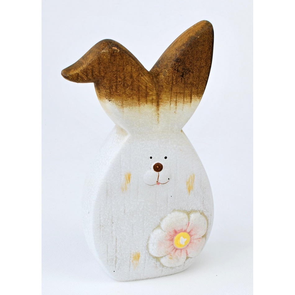 Velikonoční keramický zajíček Floret, 20 cm, 20 cm
