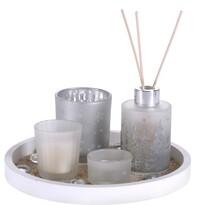 Set cadou lumânări și difuzor Fragranza 5 buc.,alb
