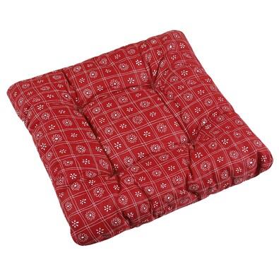 Sedák Adéla Čtverce červená, 40 x 40 cm