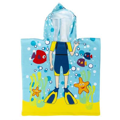 Dětské pončo Potápěč, 60 x 120 cm