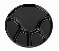 Kela Farfurie Fondue ANNELI 23 cm, neagră