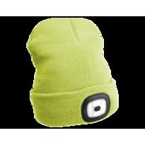Sixtol Čepice s čelovkou 45 lm, USB, uni, žlutá