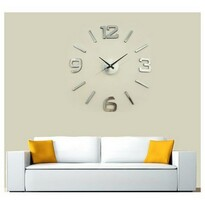 StarDeco Nástenné hodiny strieborná, priemer 60 cm