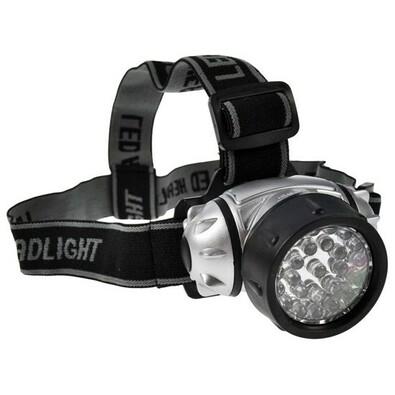Solight čelová LED svítilna,černostříbrná