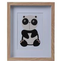 Dřevěný fotorámeček Hatu Panda, 22,5 x 3 x 27,8 cm