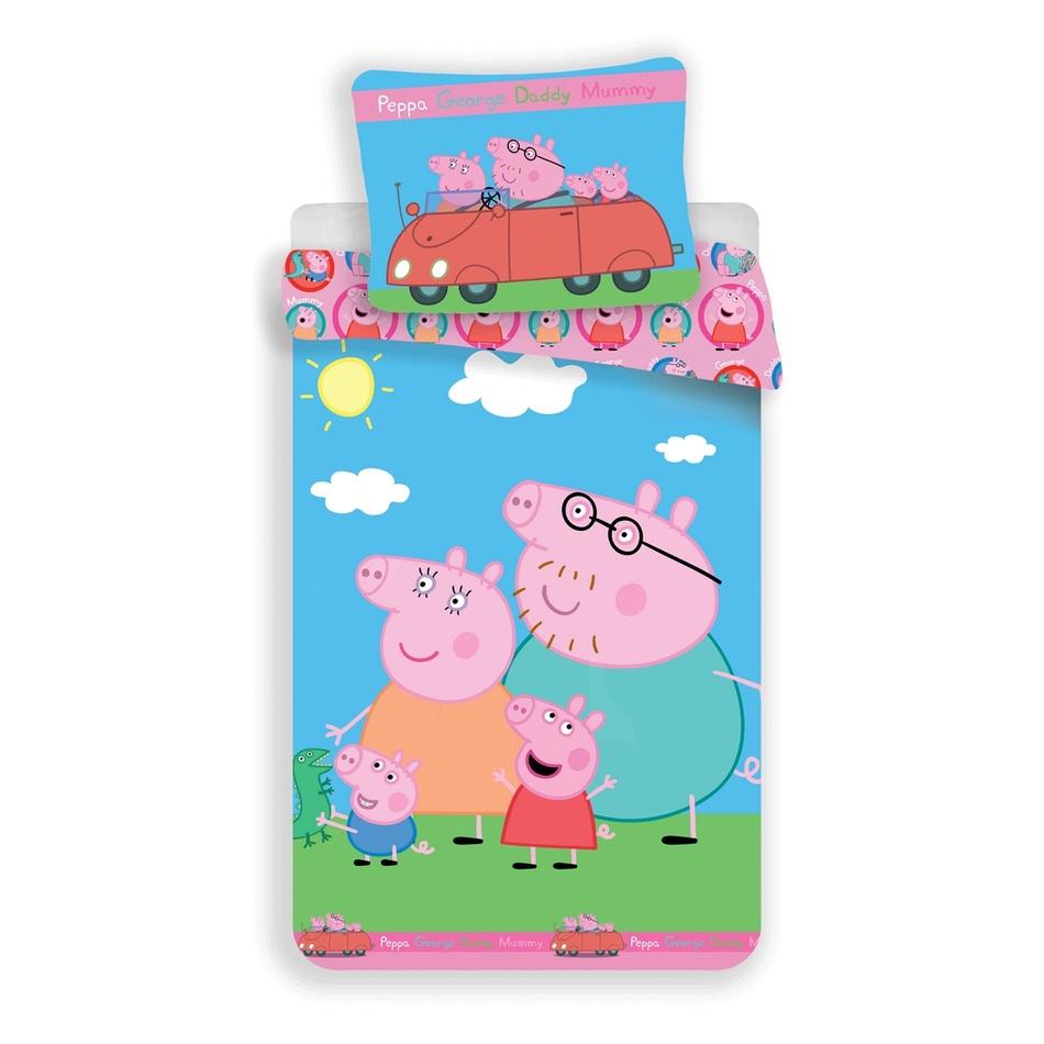 Jerry Fabrics Dětské bavlněné povlečení Peppa Pig 023, 140 x 200 cm, 70 x 90 cm