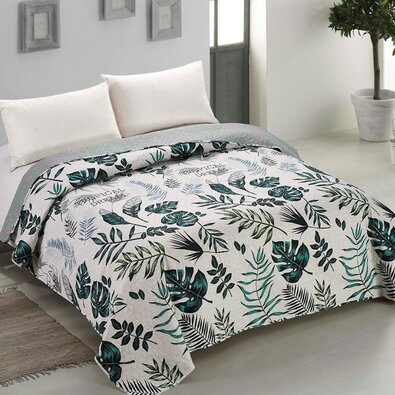 AmeliaHome Prehoz na posteľ Botanique, 220 x 240 cm