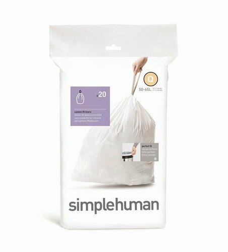 Simplehuman Vrecia do odpadkového koša Q 50-65 l, 20 ks