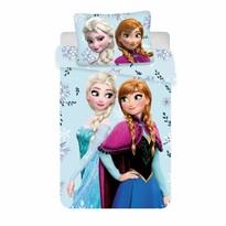 Lenjerie de pat din bumbac pentru copii Frozen floral 02, 140 x 200 cm, 70 x 90 cm