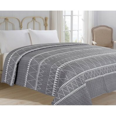 Narzuta na łóżko Inéz szary, 220 x 240 cm