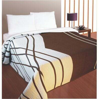Přehoz na postel Casanova hnědý, 240 x 260 cm, hnědá