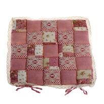 Patchwork ülőke, rózsaszín, 40 x 40 cm