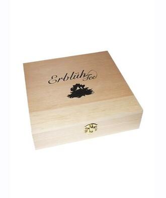 Exluzivní dřevěná skříňka,  černý čaj