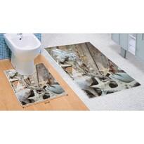 Set de covorașe de baie Scoici de mare 3D, 60 x 100 cm, 50 x 60 cm